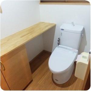 使ってみてとても使い易く、しかも収納もたくさんあるトイレに、とても満足! 岐阜・瑞穂市 施工事例写真