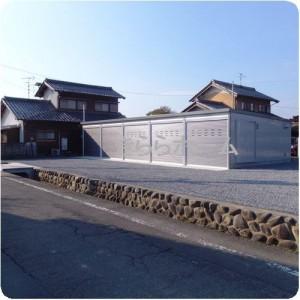 車好きのご家族が選ばれた、5連のガレージ車庫  岐阜県瑞穂市 施工事例写真