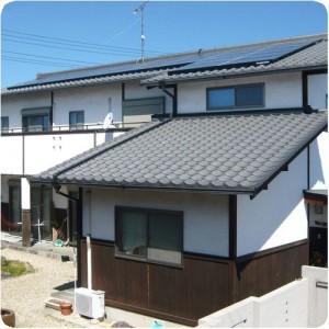 働き者が屋根の上にいるって思うと、ワクワクします。 岐阜県瑞穂市太陽光発電事例 施工事例写真
