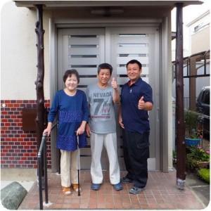 生まれ変わった我が家の玄関  岐阜県瑞穂市 施工事例写真