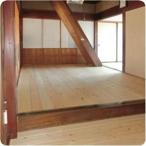 築62年の古民家 たたみを無垢材フローリングにリフォーム 岐阜県瑞穂市 施工事例写真