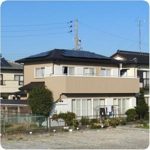 瓦から金属屋根で軽い 太陽光発電設置と外壁塗装成功物語 岐阜県瑞穂市 施工事例写真