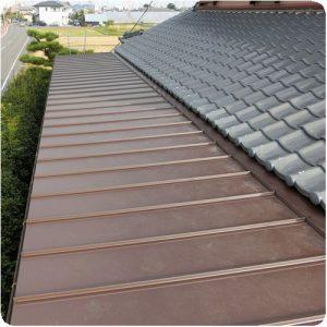 トタン屋根の雨漏り修理 成功物語  岐阜県本巣市 施工事例写真