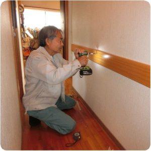 膝が痛くて家の中を動くのも辛い。手すり取付で悩み解消(岐阜県瑞穂市) 施工事例写真