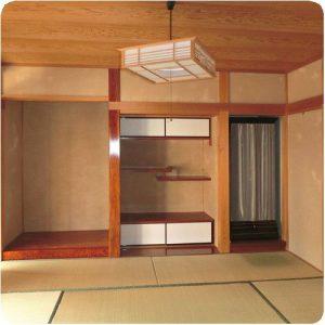 和室の壁にカビが    じゅらく塗り替え 岐阜県本巣郡北方町 施工事例写真